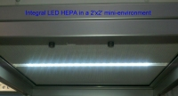 Integral LED Light for HEPA Filter